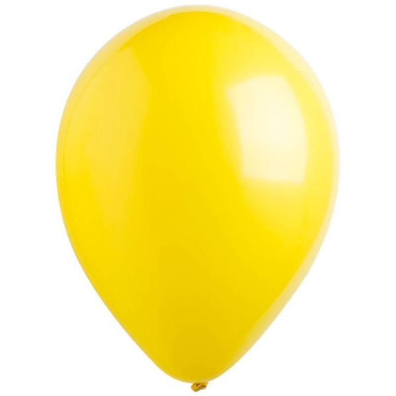 Желтые латексные шары с гелием
