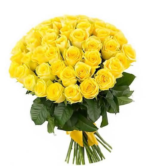 """Желтые розы """"High Yellow"""" Эквадор"""