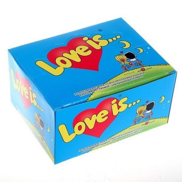 Жевательная резинка «Love is...» (клубника-банан)
