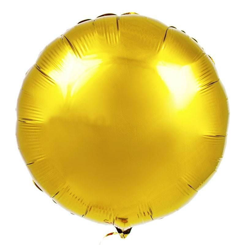 Шар из фольги «Золотой круг»